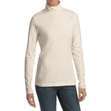 Woolrich Laureldale Mock Turtleneck - Pebble Washed, Long Sleeve (For Women) in Ecru - Closeouts
