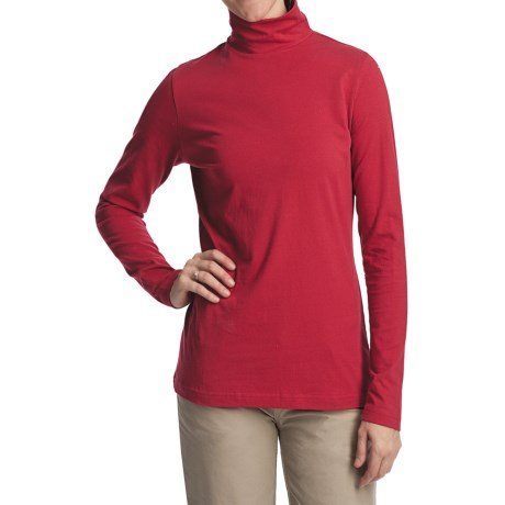 Woolrich Laureldale Mock Turtleneck - Pebble Washed, Long Sleeve (For Women) in Heirloom Red