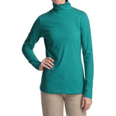 Woolrich Laureldale Mock Turtleneck - Pebble Washed, Long Sleeve (For Women) in Mineral Blue - Closeouts
