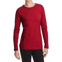 Woolrich Laureldale Stretch Jersey T-Shirt - Long Sleeve (For Women) in Cherry Red - Closeouts