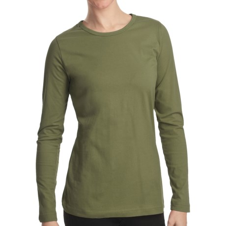 Woolrich Laureldale Stretch Jersey T-Shirt - Long Sleeve (For Women) in Oak Leaf