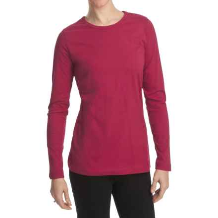 Woolrich Laureldale Stretch Jersey T-Shirt - Long Sleeve (For Women) in Wildberry - Closeouts