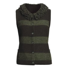 Woolrich Levona Stripe Vest - Lambswool (For Women) in Dark Loden - Closeouts