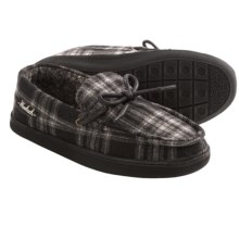 Woolrich Lewisburg Moccasin Slippers (For Men) in Charcoal Plaid - Closeouts