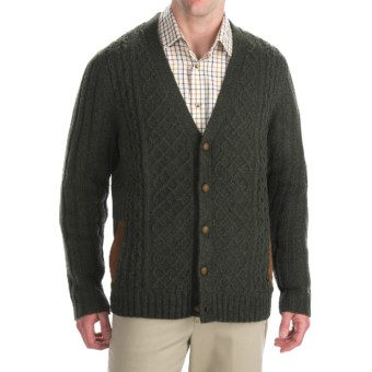 Woolrich Lexington Cardigan Sweater - Lambswool Blend (For Men) in Olive Heather