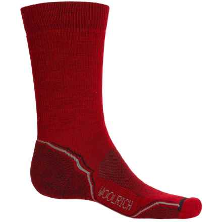 Woolrich Light Hiker Socks - Merino Wool, Crew (For Men) in Old Red - Closeouts