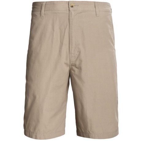 Woolrich Lighthouse Cotton Poplin Shorts (For Men) in Khaki