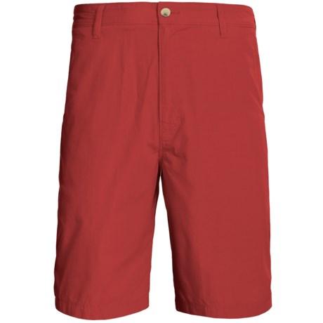 Woolrich Lighthouse Cotton Poplin Shorts (For Men) in Lobster