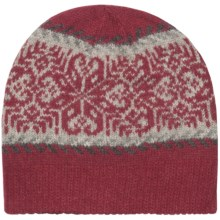 Woolrich Lindale Beanie Hat - Wool-Angora, Jacquard Print (For Women) in Ruby - Closeouts