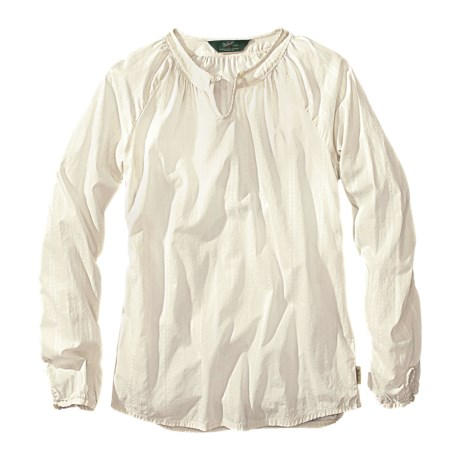 Woolrich Linwood Cotton Dobby Shirt - Long Sleeve (For Women) in Ecru