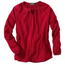 Woolrich Linwood Cotton Dobby Shirt - Long Sleeve (For Women) in Ruby - Closeouts