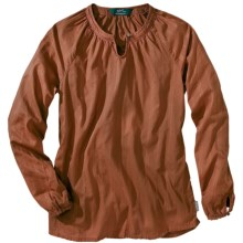 Woolrich Linwood Cotton Dobby Shirt - Long Sleeve (For Women) in Russet - Closeouts