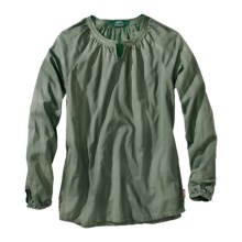 Woolrich Linwood Cotton Dobby Shirt - Long Sleeve (For Women) in Spruce - Closeouts