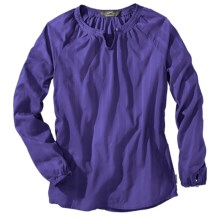 Woolrich Linwood Cotton Dobby Shirt - Long Sleeve (For Women) in Ultra Violet - Closeouts