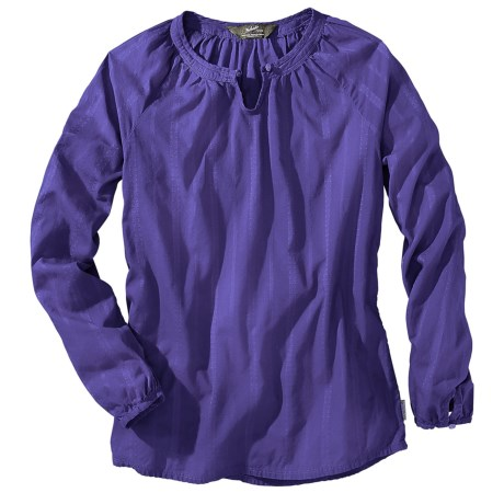Woolrich Linwood Cotton Dobby Shirt - Long Sleeve (For Women) in Ultra Violet