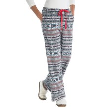 Woolrich Little Plum Flannel Pants (For Women) in Grey Fairisle - Closeouts