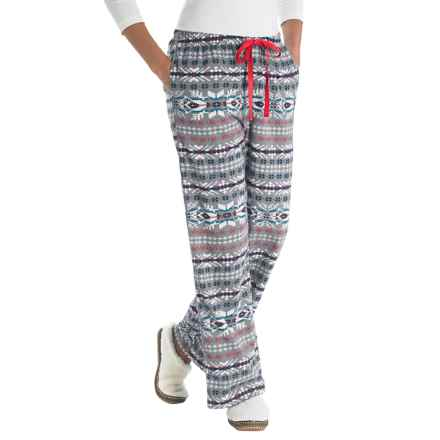 Woolrich Little Plum Flannel Pants (For Women) in Grey Fairisle - Closeouts