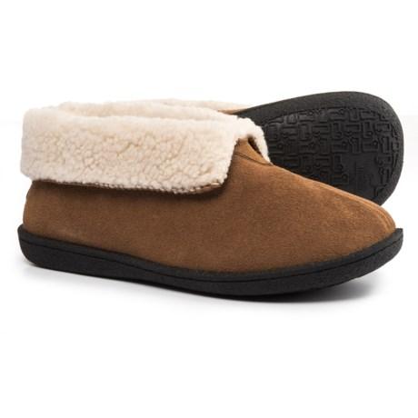 Woolrich Lodge Bootie II Slippers - Suede, Fleece Lined (For Women) in Chestnut
