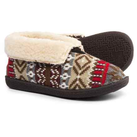 Woolrich Lodge Bootie II Slippers - Suede, Fleece Lined (For Women) in Kendall Creek - Closeouts