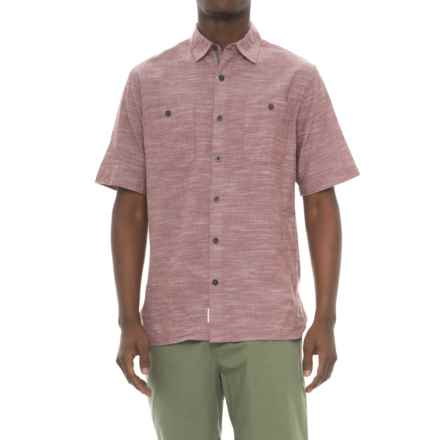 Woolrich Lost Lakes Chambray Shirt - Short Sleeve (For Men) in Antique Red - Closeouts