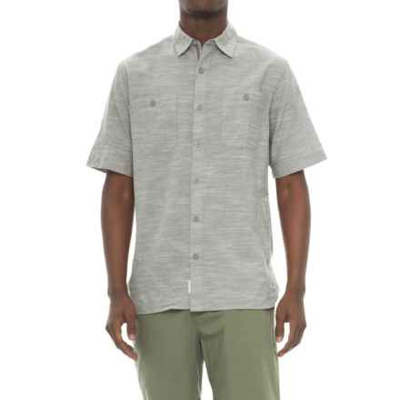 Woolrich Lost Lakes Chambray Shirt - Short Sleeve (For Men) in Gray - Closeouts