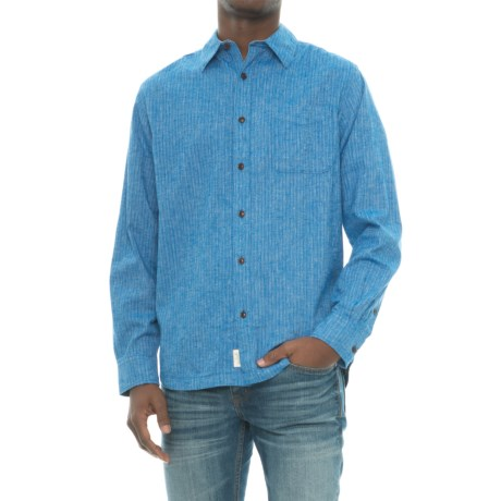Woolrich Mainroad Eco Rich Shirt - Organic Cotton, UPF 20, Long Sleeve (For Men) in Summer Sky