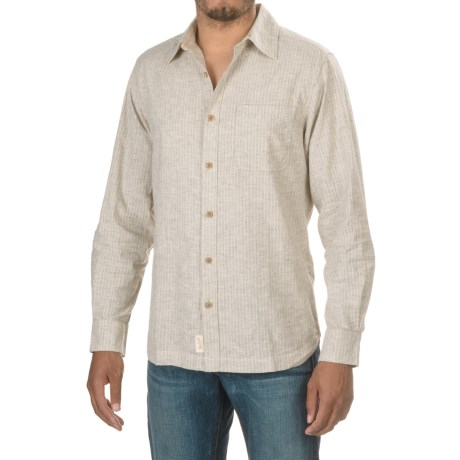 Woolrich Mainroad Shirt - UPF 20, Organic Cotton, Long Sleeve (For Men) in Wool Cream