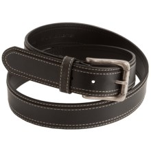 Woolrich Mansfield Belt - Leather (For Men) in Black - Closeouts