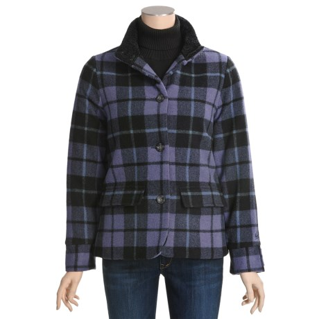 Woolrich Maple Run Coat - Wool, Insulated (For Women) in Deep Purple
