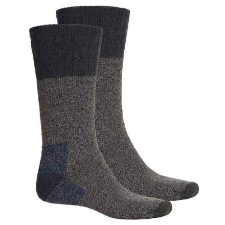 Woolrich Marled Socks - 2-Pack, Merino Wool, Mid Calf (For Men) in Navy - Closeouts