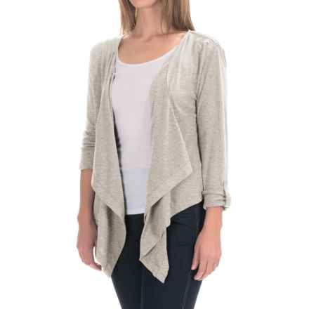 Woolrich Meadowlark Layering Cardigan (For Women) in Silver Gray Heather - Closeouts