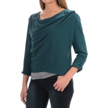 Woolrich Meadowlark Layering Cardigan Shirt - Long Sleeve (For Women) in Harbor - Closeouts