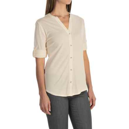 Woolrich Meadowlark Shirt - Roll-Up Long Sleeve (For Women) in Ecru - Closeouts