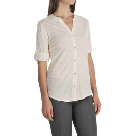 Woolrich Meadowlark Shirt - Roll-Up Long Sleeve (For Women) in Silver Grey Heather - Closeouts