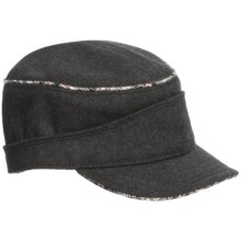 Woolrich Melton Cadet Legion Cap - Wool Blend, Reversible (For Women) in Charcaol - Closeouts
