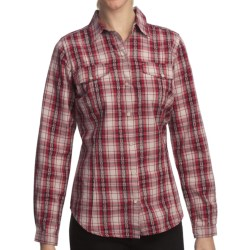 Woolrich Mercer Shirt - Cotton Dobby, Long Sleeve (For Women) in Deep Ruby