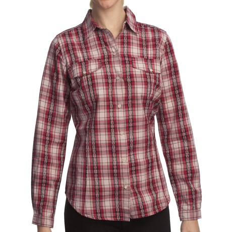 Woolrich Mercer Shirt - Cotton Dobby, Long Sleeve (For Women) in Deep Ruby
