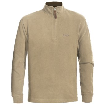 Woolrich Meridian Pullover Sweatshirt - Zip Neck (For Men) in Barley