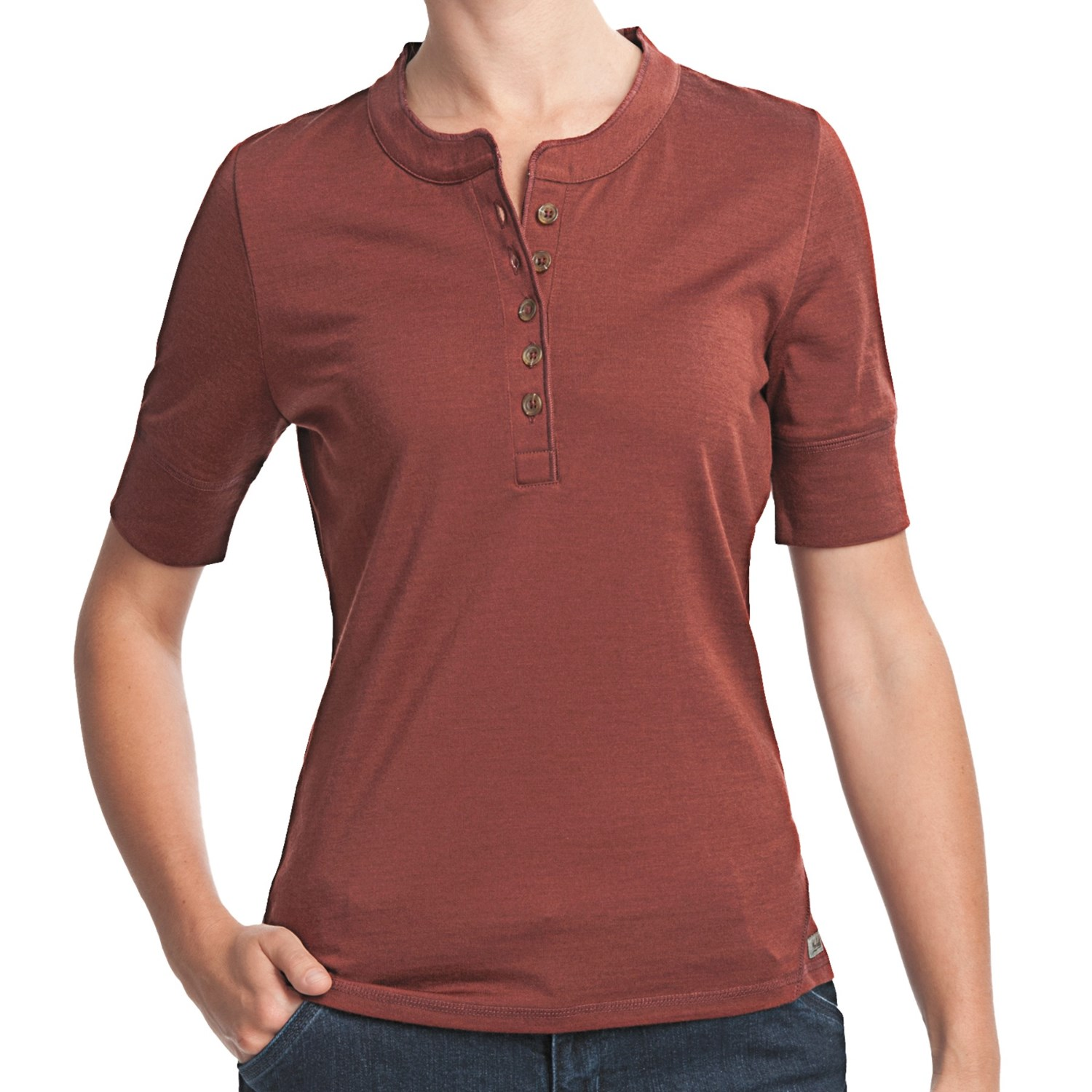 Woolrich merino wool henley shirt upf 40 short sleeve for Merino wool shirt womens