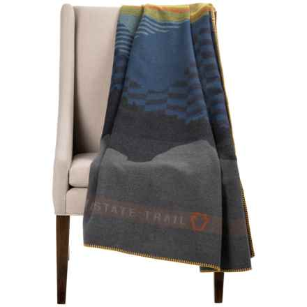 "Woolrich Mid-State Trail Wool Throw Blanket - 46x60"" in Multi - Closeouts"