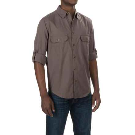 Woolrich Midway Solid Shirt - Long Sleeve (For Men) in Dark Grey - Closeouts