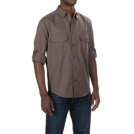 Woolrich Midway Solid Shirt - Long Sleeve (For Men) in Dark Grey