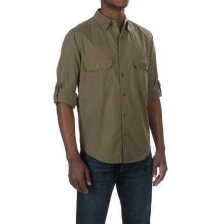 Woolrich Midway Solid Shirt - Long Sleeve (For Men) in Peat - Closeouts