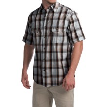 Woolrich Midway Yarn-Dye Shirt - Short Sleeve (For Men) in Coastal Grey - Closeouts