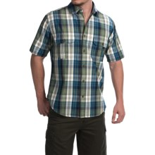 Woolrich Midway Yarn-Dye Shirt - Short Sleeve (For Men) in Deep Indigo - Closeouts