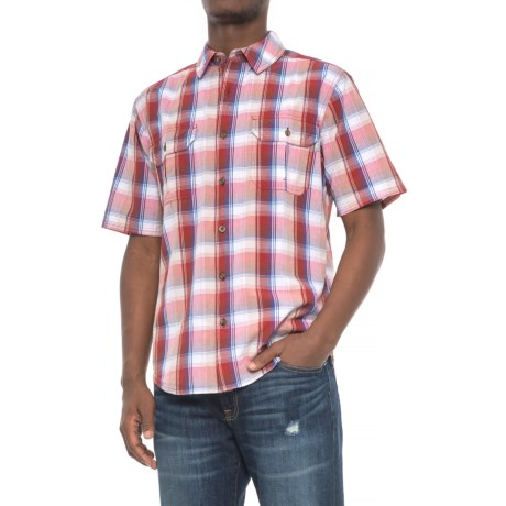 Woolrich Midway Yarn-Dye Shirt - Short Sleeve (For Men) in Old Red