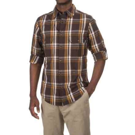 Woolrich Midway Yarn-Dyed Shirt - Long Sleeve (For Men) in Dark Walnut - Closeouts