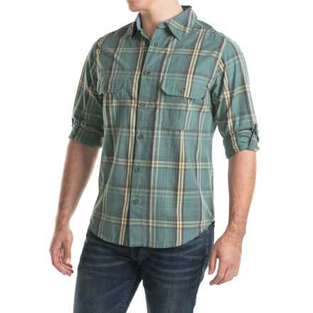 Woolrich Midway Yarn-Dyed Shirt - Long Sleeve (For Men) in Silver Pine - Closeouts