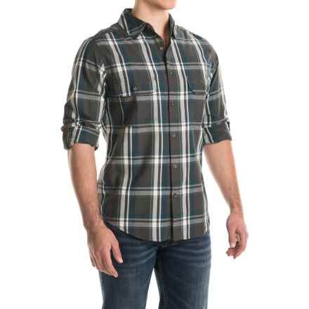 Woolrich Midway Yarn-Dyed Shirt - Long Sleeve (For Men) in Slate - Closeouts