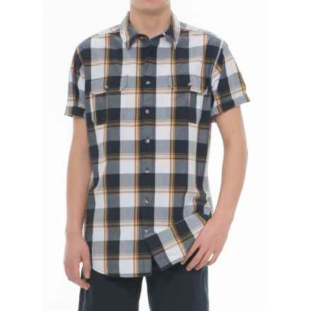 Woolrich Midway Yarn-Dyed Shirt - Short Sleeve (For Men) in Deep Indigo Plaid - Closeouts